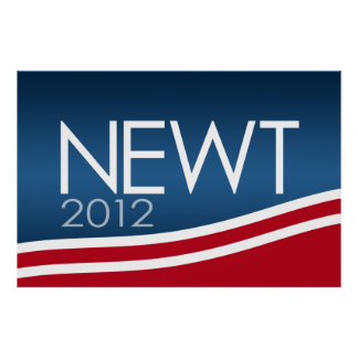 Newt Gingrich 2012 campaign sign Poster