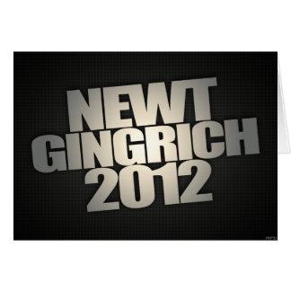Newt Gingrich 2012 Card