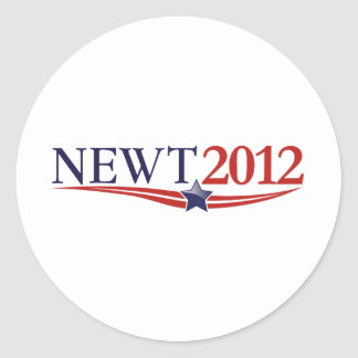 Newt Gingrich 2012 Classic Round Sticker
