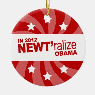 Newt Gingrich 2012 Adornos De Navidad
