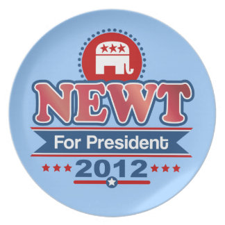 NEWT Gingrich 2012 Dinner Plate