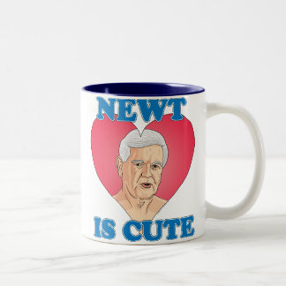 Newt Gingrich 2012 - El Newt es lindo Taza De Dos Tonos