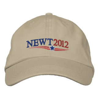 NEWT Gingrich 2012 Embroidered Hats
