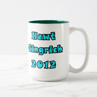 Newt Gingrich 2012 - Escriba su propio texto Taza De Dos Tonos