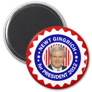 Newt Gingrich 2012 for President 2 Inch Round Magnet