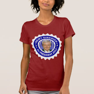 Newt Gingrich 2012 for President T-Shirt