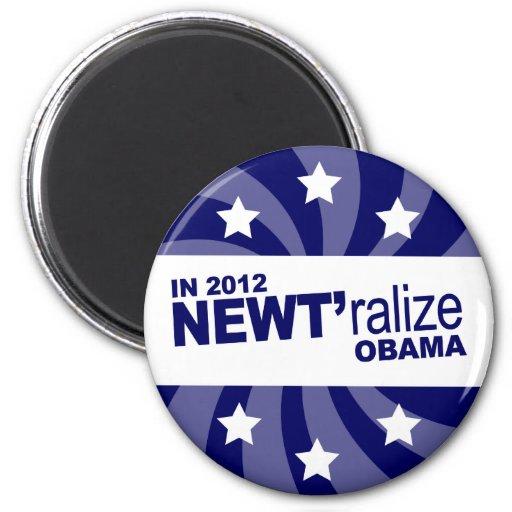 Newt Gingrich 2012 Imán Redondo 5 Cm