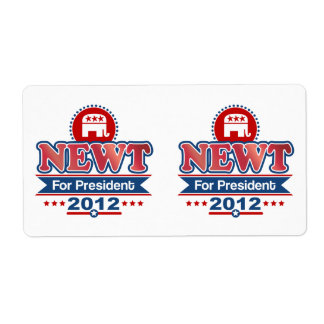 NEWT Gingrich 2012 Label