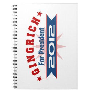 Newt Gingrich 2012 Libro De Apuntes Con Espiral