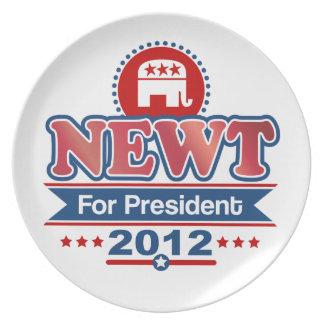 NEWT Gingrich 2012 Melamine Plate