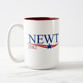 Newt Gingrich 2012 Two-Tone Coffee Mug