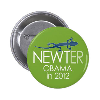 Newt Gingrich 2012 - newter obama Pin