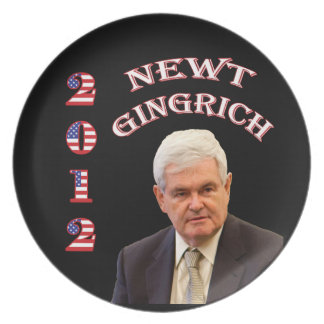 Newt Gingrich 2012 Party Plates