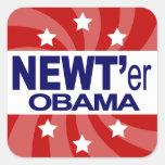 Newt Gingrich 2012 Calcomania Cuadradas Personalizadas