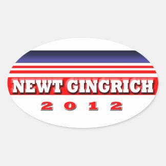 Newt Gingrich 2012 Pegatina Ovalada
