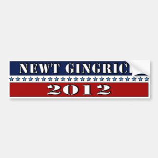 Newt Gingrich 2012 - pegatina para el parachoques Pegatina Para Auto