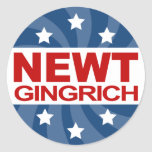 Newt Gingrich 2012 Pegatina Redonda