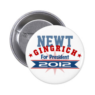 Newt Gingrich 2012 Pin Redondo 5 Cm