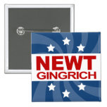 NEWT Gingrich 2012 Pinback Buttons
