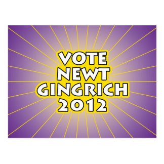 Newt Gingrich 2012 Post Cards