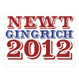 Newt Gingrich 2012 Postcards