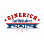 NEWT Gingrich 2012 Postcards