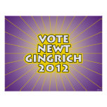 Newt Gingrich 2012 Posters