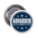 Newt Gingrich 2012 - retro stars and stripes Pinback Button