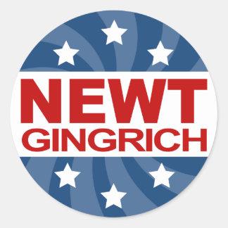 NEWT Gingrich 2012 Round Stickers