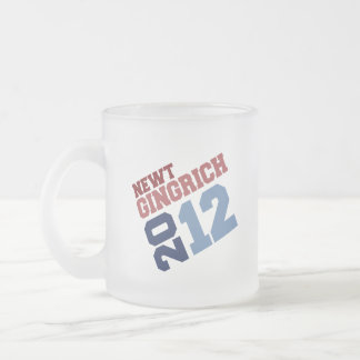 NEWT GINGRICH 2012 SWING VOTE 10 OZ FROSTED GLASS COFFEE MUG