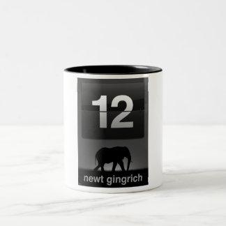 Newt Gingrich 2012 Taza De Dos Tonos