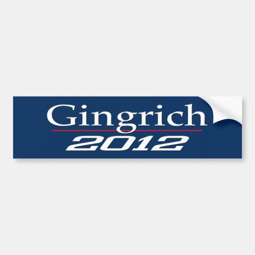 Newt Gingrich 2012 (v100) Bumper Sticker