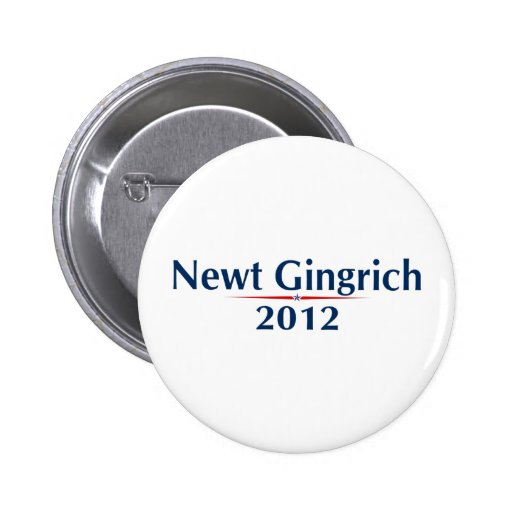 Newt Gingrich 2012 (v101) Pin Redondo 5 Cm