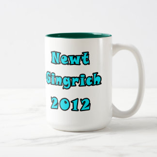 Newt Gingrich 2012 - Write Your Own Text Two-Tone Coffee Mug