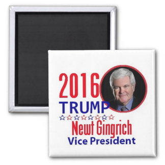 Newt GINGRICH 2016 Square Magnet