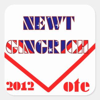Newt Gingrich 2 Pegatina Cuadrada