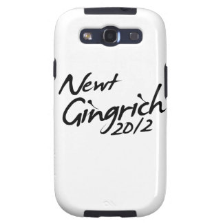 NEWT GINGRICH AUTOGRAPH 2012 SAMSUNG GALAXY SIII COVER