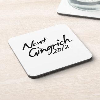 NEWT GINGRICH AUTOGRAPH 2012 COASTERS