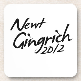 NEWT GINGRICH AUTOGRAPH 2012 DRINK COASTERS