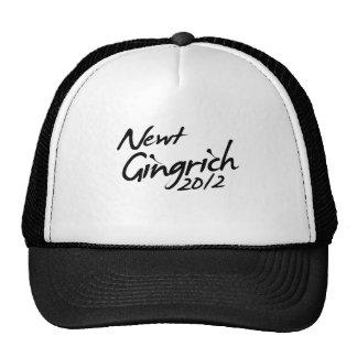 NEWT GINGRICH AUTOGRAPH 2012 HATS