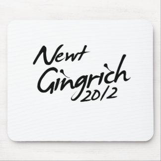 NEWT GINGRICH AUTOGRAPH 2012 MOUSEPAD