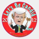Newt Gingrich Classic Round Sticker