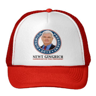 Newt Gingrich Conservative for President Trucker Hat