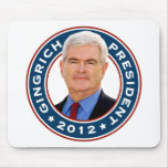 Newt Gingrich Conservative for President Mousepads