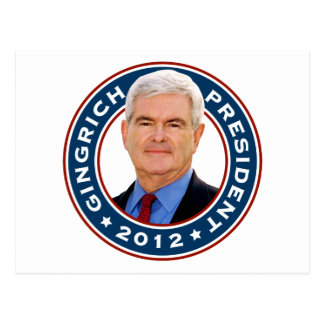 Newt Gingrich Conservative for President Post Cards