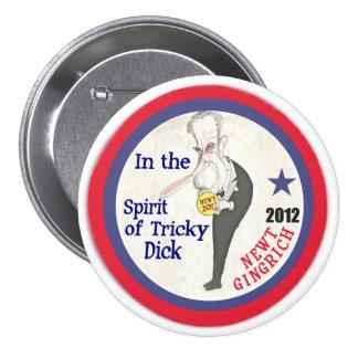 Newt Gingrich / Dick Nixon 2012 3 Inch Round Button