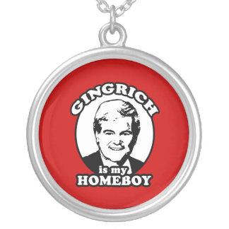 Newt Gingrich es mi homeboy Collares Personalizados