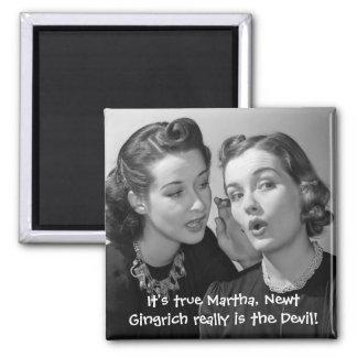 ¡Newt Gingrich es realmente el diablo! Imán Cuadrado