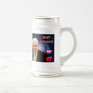 Newt Gingrich - fiesta del té - elefante del GOP Jarra De Cerveza