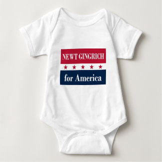 Newt Gingrich for America Baby Bodysuit